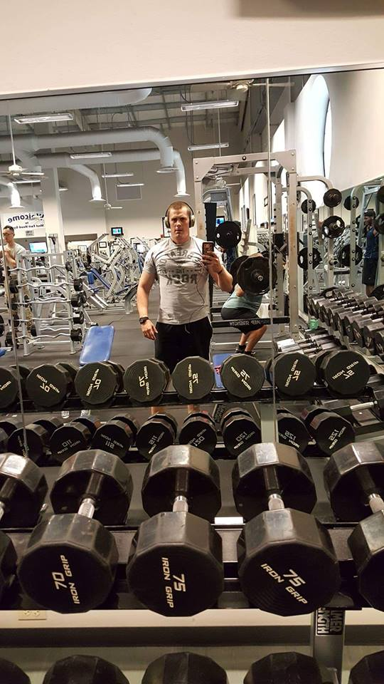 Ben working out